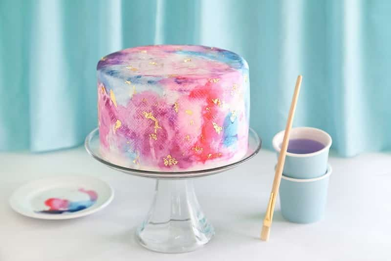 watercolor cake 1